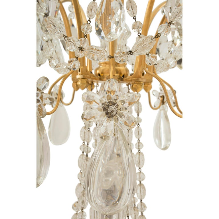 French 19th Century Louis XVI St. Marie Antoinette Baccarat Crystal Chandelier For Sale 1