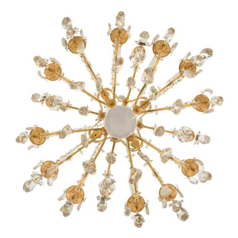 French 19th Century Louis XVI St. Marie Antoinette Baccarat Crystal Chandelier For Sale 6
