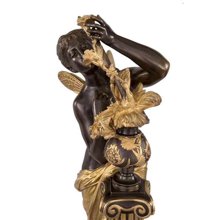French 19th Century Louis XVI St. Ormolu and Bronze Statue For Sale 3