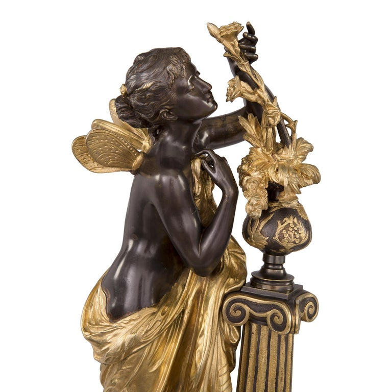 French 19th Century Louis XVI St. Ormolu and Bronze Statue For Sale 4