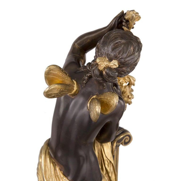 French 19th Century Louis XVI St. Ormolu and Bronze Statue For Sale 5