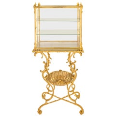 French 19th Century Louis XVI Style Ormolu and Glass Display Vitrine