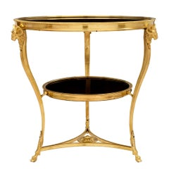 French 19th Century Louis XVI Style Ormolu and Marble Guéridon Side Table