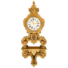 French 19th Century Louis XIV St. Ormolu Cartel Clock