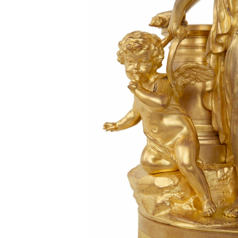 French 19th Century Louis XVI Style Ormolu Statue of a Maiden Signed Sèvres For Sale 2