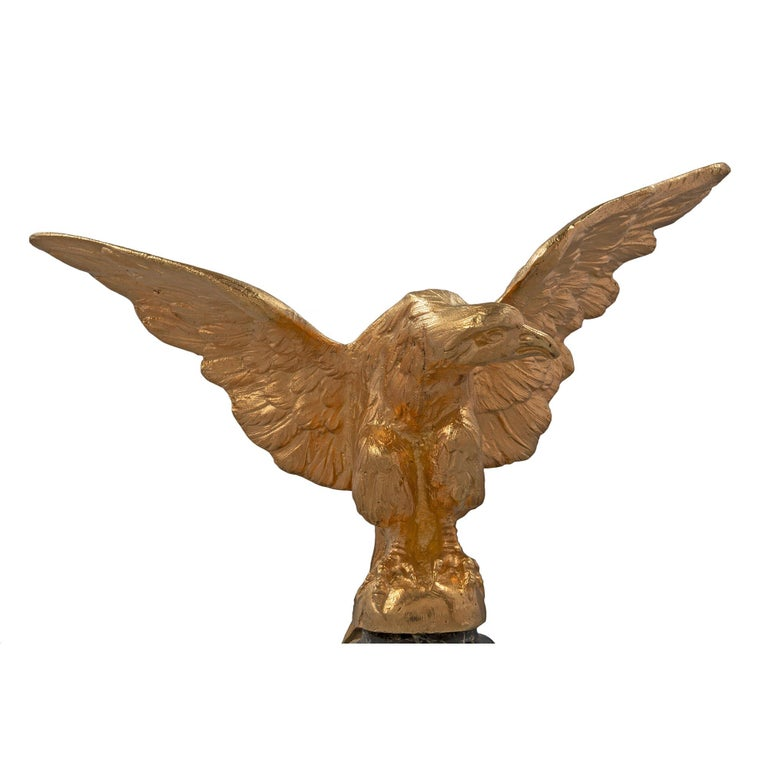 French 19th Century Louis XVI Style Ormolu Statue of an Eagle In Excellent Condition For Sale In West Palm Beach, FL
