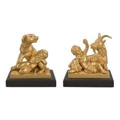 French 19th Century Louis XVI Style Ormolu Statues