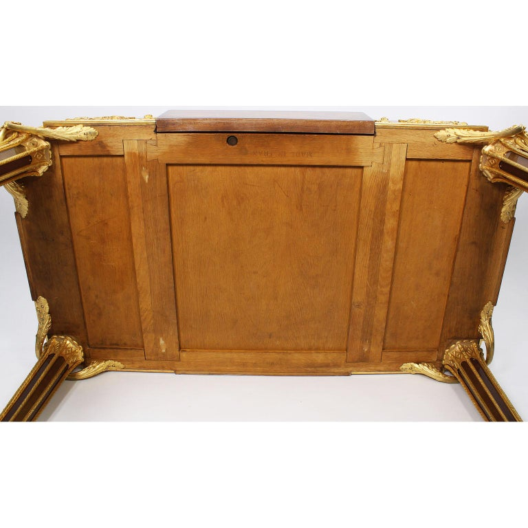 French Louis XVI Style Ormolu and Marquetry Table, Beurdeley Attributed For Sale 13