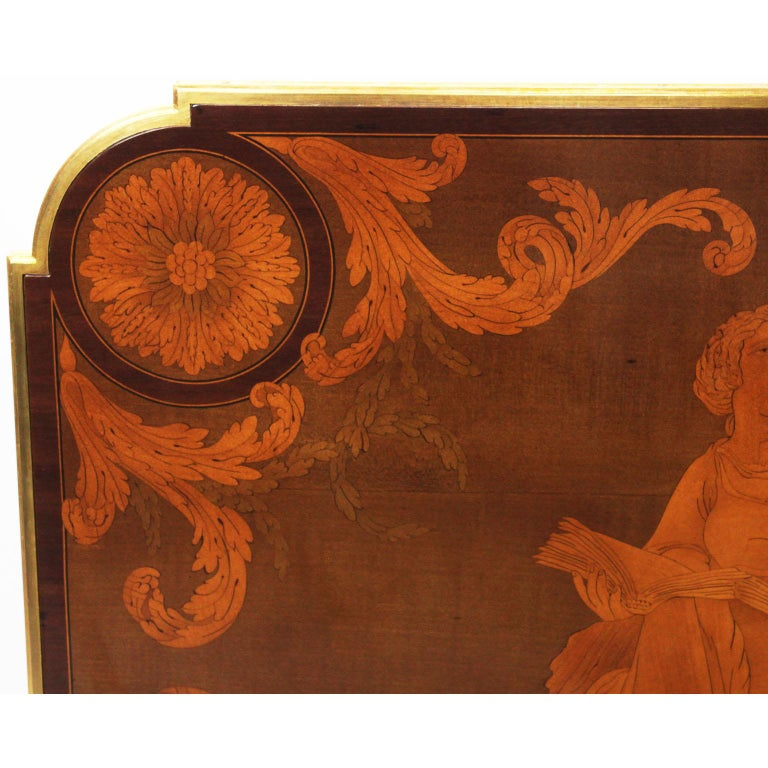 French Louis XVI Style Ormolu and Marquetry Table, Beurdeley Attributed For Sale 2