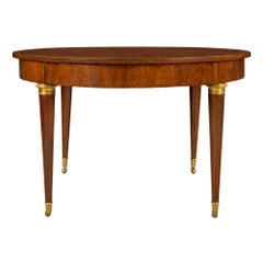 French 19th Century Neoclassical Style Mahogany Center or Dining Table