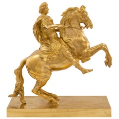 French 19th Century Ormolu Statue, Signed Baron Bosio