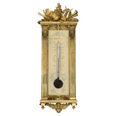 A French 19th Century Ormolu Thermometer circa 1880