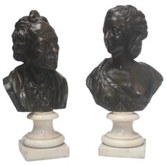 A French 19th Century Pair of Bronze Busts