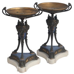 French 19th Century Pair of Tazzas
