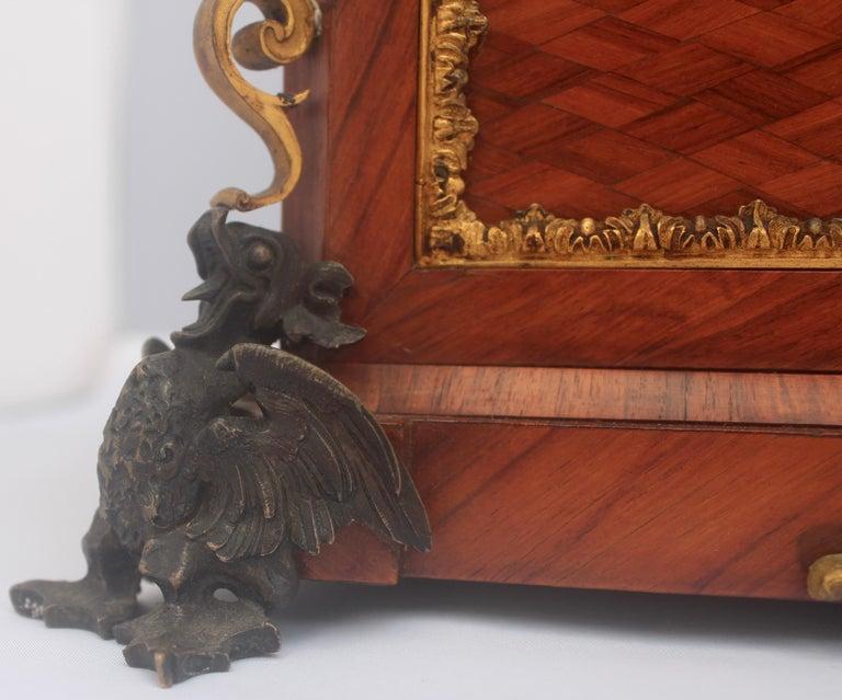 French 19th Century Pietra Dura Jewelry Casket by Alphonse Giroux, Paris For Sale 3