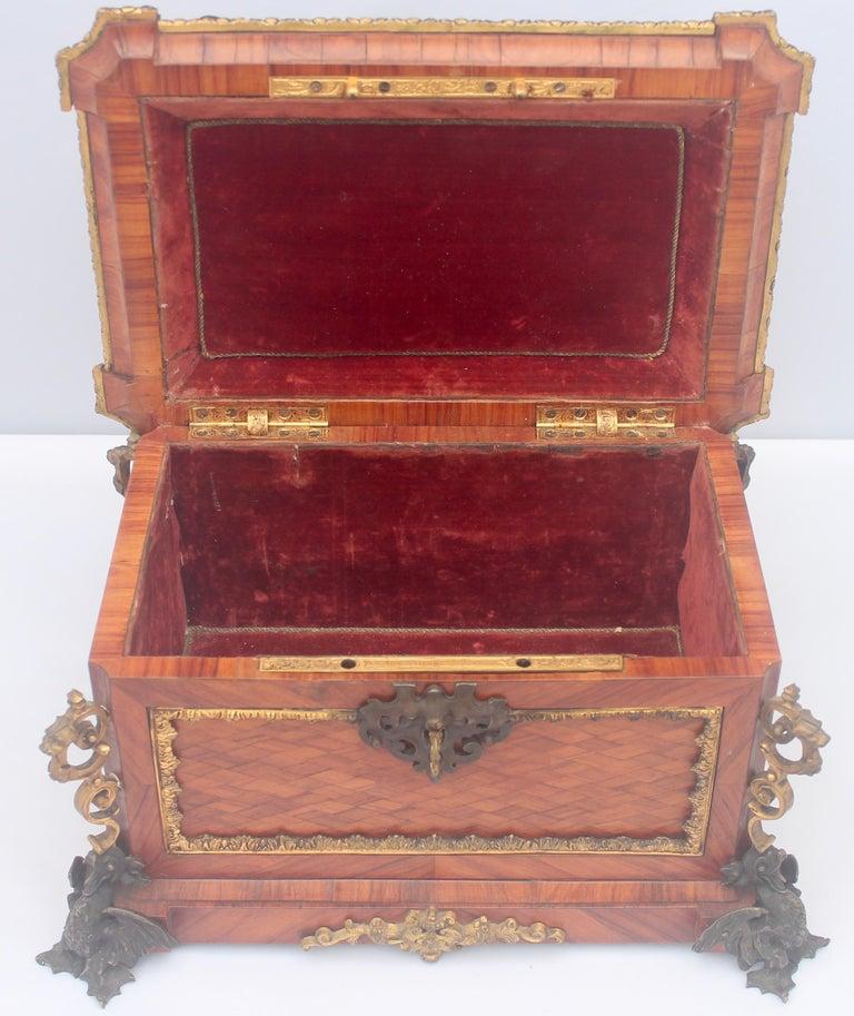 French 19th Century Pietra Dura Jewelry Casket by Alphonse Giroux, Paris For Sale 4