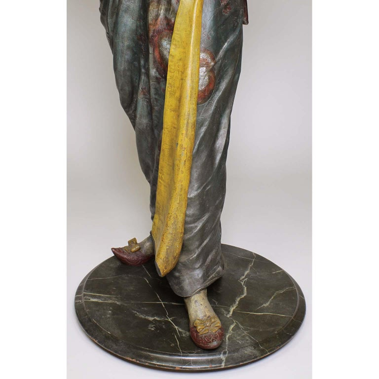 French 19th Century Polychromed Life-Size Figure of a Geisha, Charles Massé For Sale 2