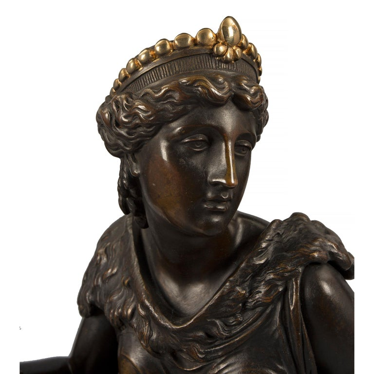 French 19th Century Renaissance St. Bronze and Ormolu Statue of Omphale For Sale 2