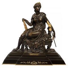 French 19th Century Renaissance St. Bronze and Ormolu Statue of Omphale
