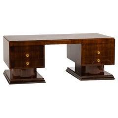 French Art Deco Rosewood Executive Desk, circa 1930