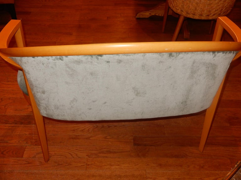 Hand-Carved Swedish Modern Loveseat, 1980s For Sale