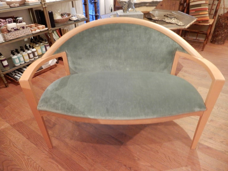 Swedish Modern Loveseat, 1980s In Excellent Condition For Sale In Bellport, NY