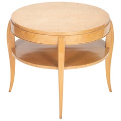 French Art Deco Sycamore Side Table