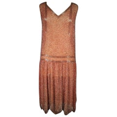 A French Beaded Flapper Dress Circa 1925