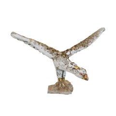A French Bird Garden Statue From Mid 20th Century