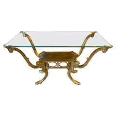 French Brass Neoclassical Style Centre Table