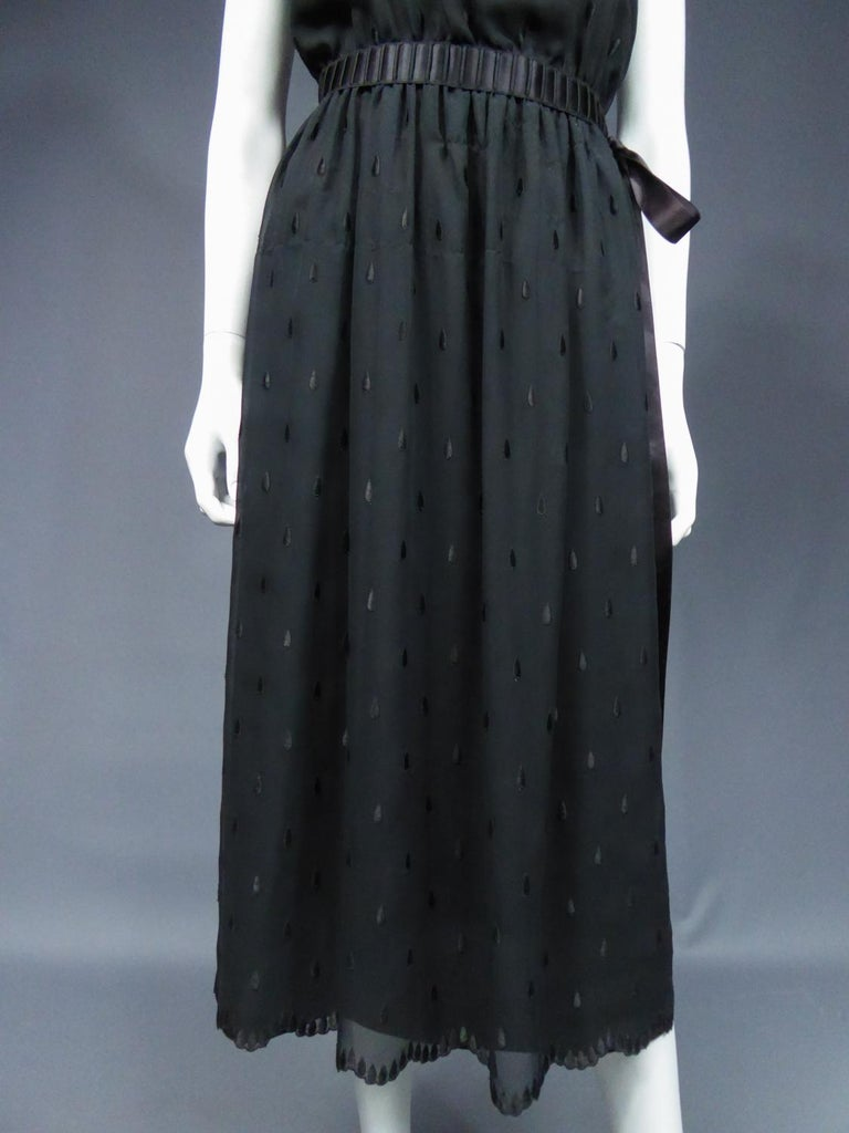 A French Christian Dior Embroidered Chiffon Dress and Blouse Circa 1980 For Sale 5