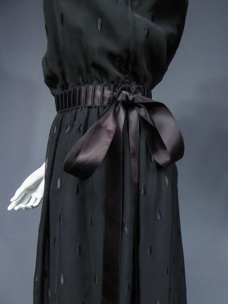A French Christian Dior Embroidered Chiffon Dress and Blouse Circa 1980 For Sale 7