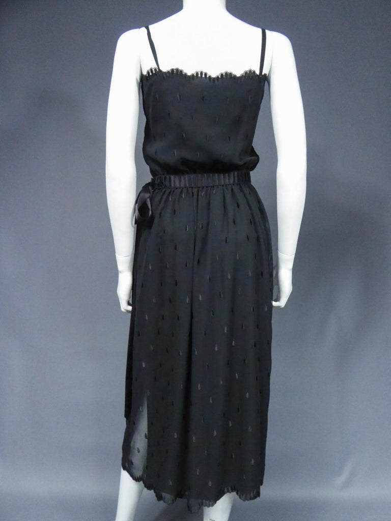 A French Christian Dior Embroidered Chiffon Dress and Blouse Circa 1980 For Sale 8