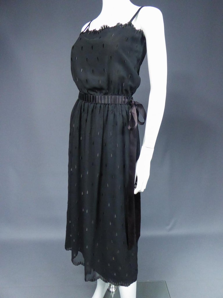 A French Christian Dior Embroidered Chiffon Dress and Blouse Circa 1980 For Sale 9