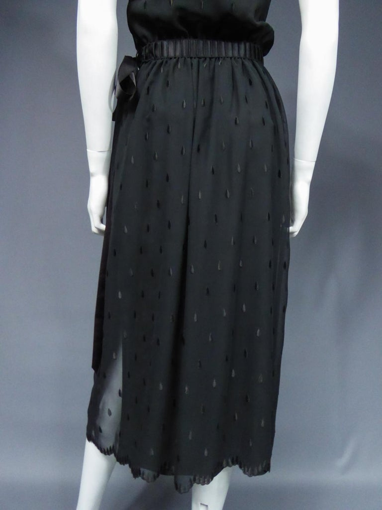 A French Christian Dior Embroidered Chiffon Dress and Blouse Circa 1980 For Sale 10
