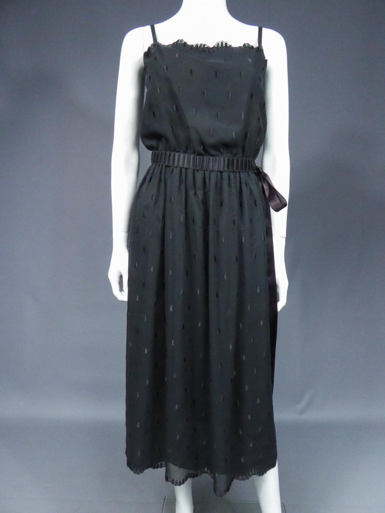 A French Christian Dior Embroidered Chiffon Dress and Blouse Circa 1980 For Sale 2