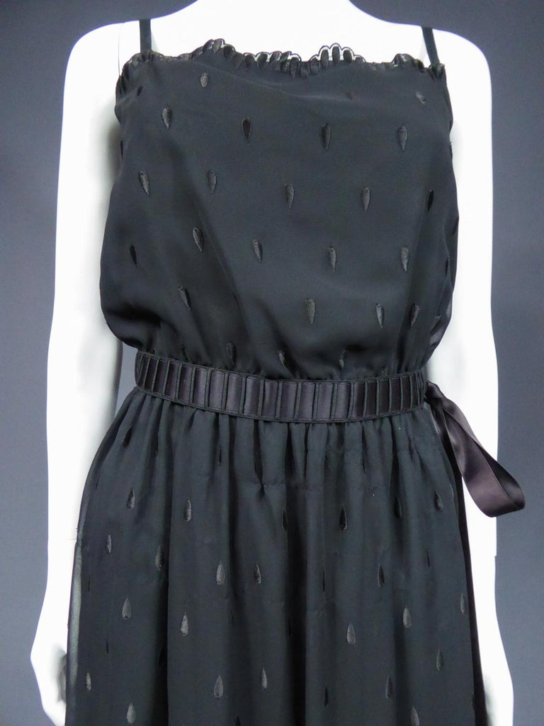 A French Christian Dior Embroidered Chiffon Dress and Blouse Circa 1980 For Sale 3