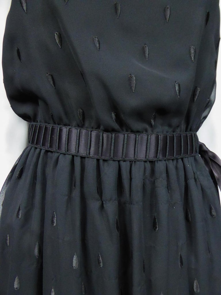 A French Christian Dior Embroidered Chiffon Dress and Blouse Circa 1980 For Sale 4