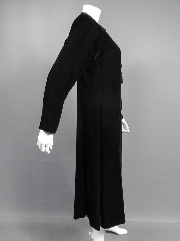 A french Couture Emanuel UngaroLittle Black Dress Number 4383-10-76Circa 1976 For Sale 8