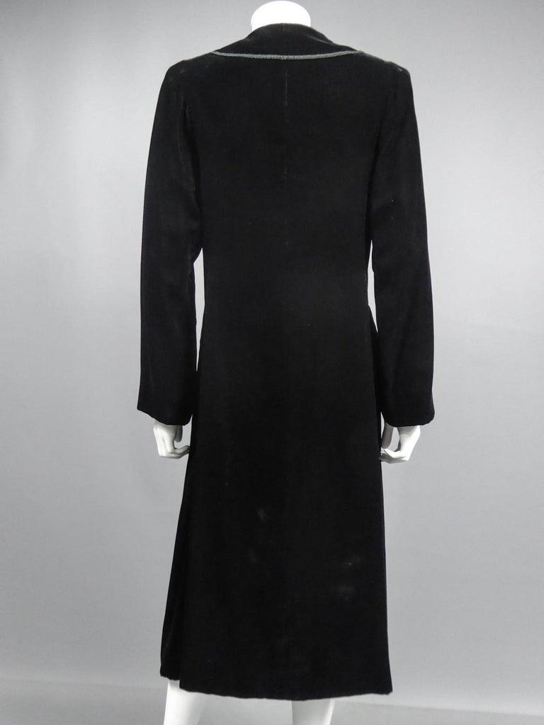 A french Couture Emanuel UngaroLittle Black Dress Number 4383-10-76Circa 1976 For Sale 9