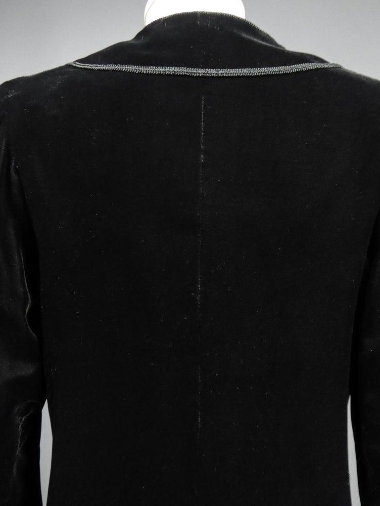 A french Couture Emanuel UngaroLittle Black Dress Number 4383-10-76Circa 1976 For Sale 10
