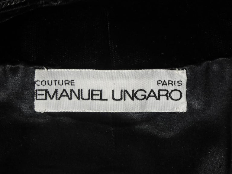 A french Couture Emanuel UngaroLittle Black Dress Number 4383-10-76Circa 1976 In Excellent Condition For Sale In Toulon, FR