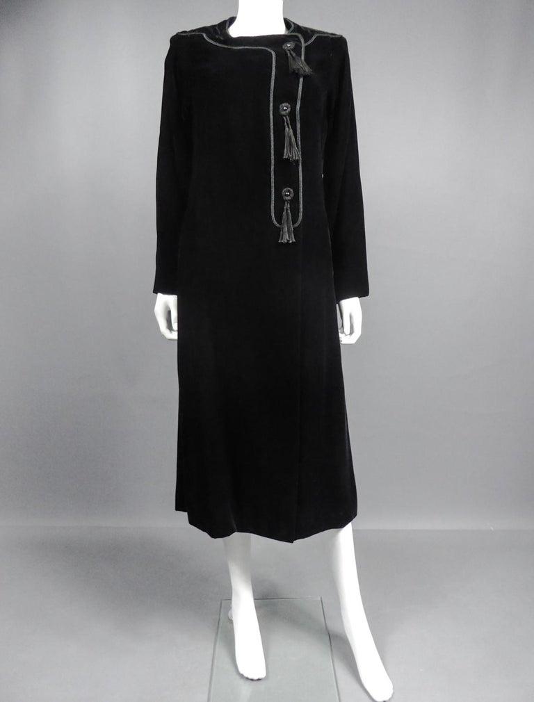 Women's A french Couture Emanuel UngaroLittle Black Dress Number 4383-10-76Circa 1976 For Sale