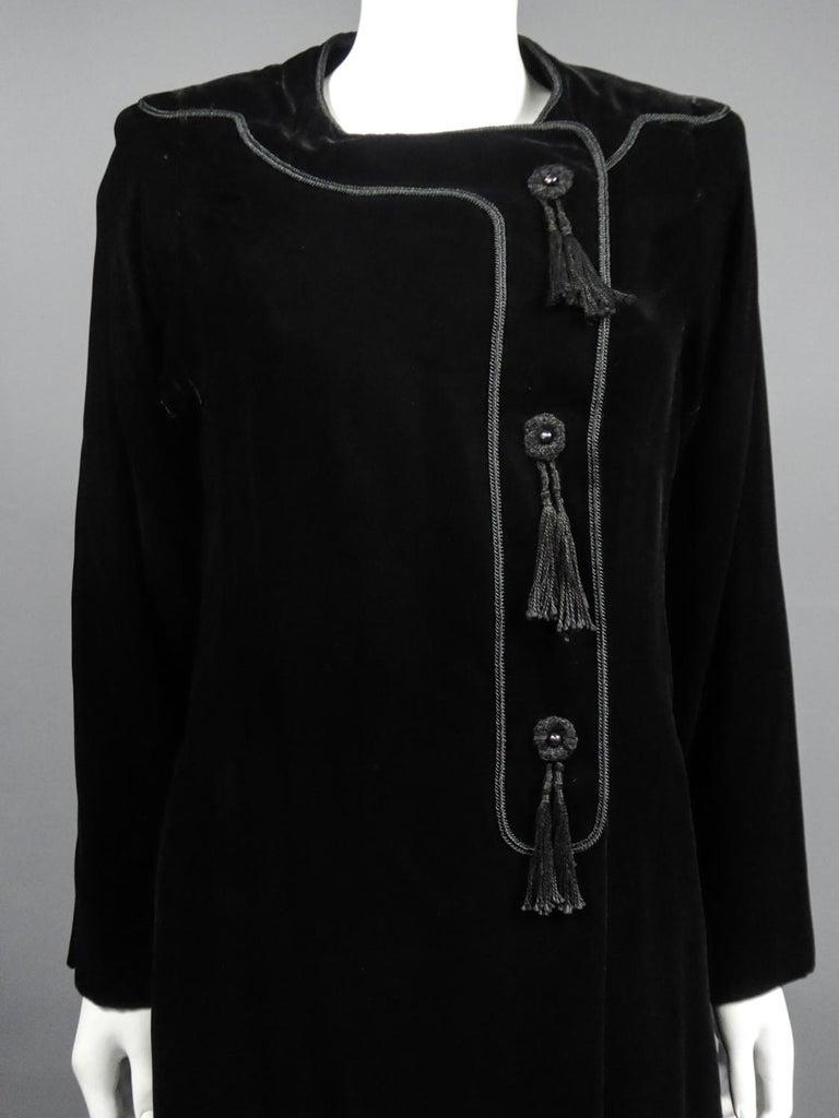 A french Couture Emanuel UngaroLittle Black Dress Number 4383-10-76Circa 1976 For Sale 1