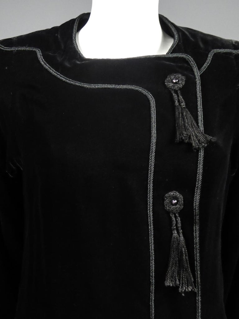 A french Couture Emanuel UngaroLittle Black Dress Number 4383-10-76Circa 1976 For Sale 2