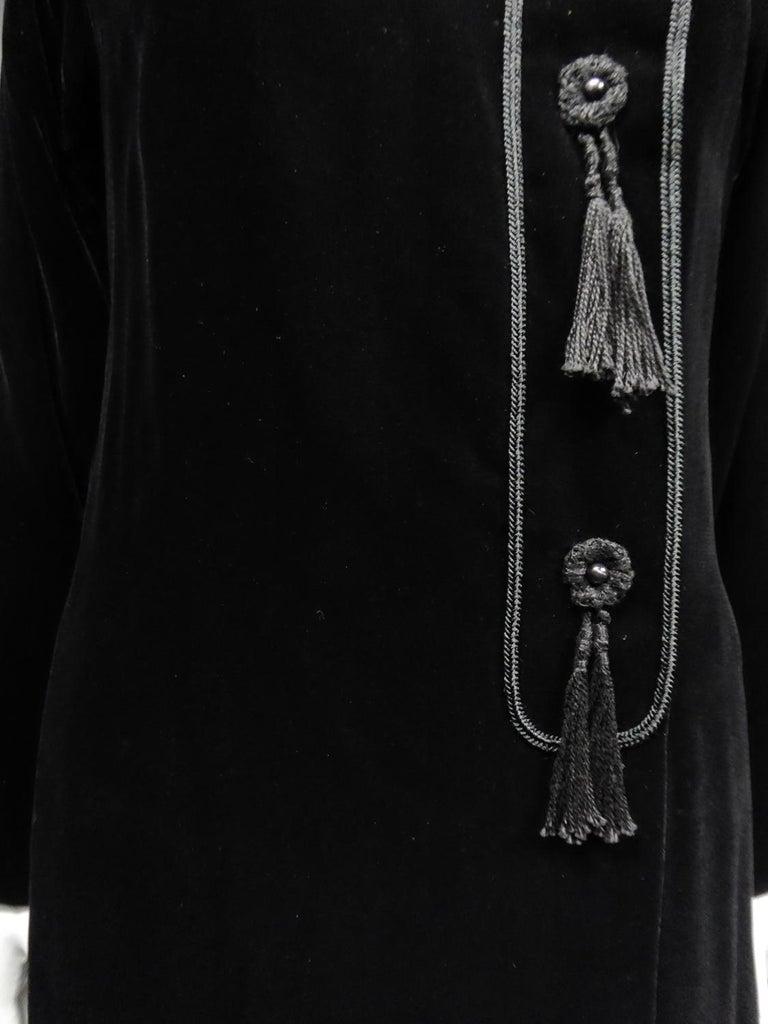 A french Couture Emanuel UngaroLittle Black Dress Number 4383-10-76Circa 1976 For Sale 4