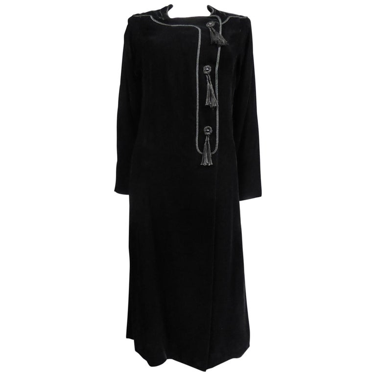 A french Couture Emanuel UngaroLittle Black Dress Number 4383-10-76Circa 1976 For Sale