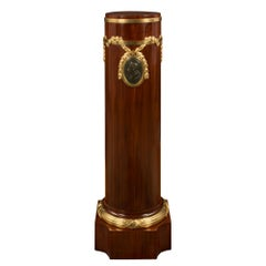 French Early 19th Century Louis XVI Style Mahogany, Bronze and Ormolu Pedestal