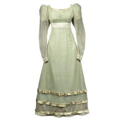 A French Early Regency White Embroidered Day Dress – Circa 1815-1820