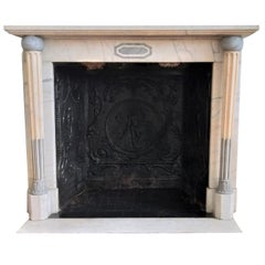 French Empire Marble Fireplace, Epoque